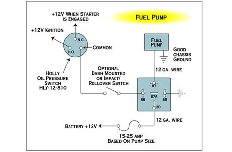 Electrical Wiring Fuel Pump With Relay Toggle The
