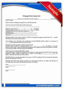 Free printable mortgage broker agreement form generic for Documents for mortgage broker