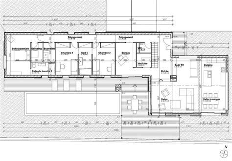 plan de maison 5 chambres plain pied tekart architecture architectes associés concepteur de
