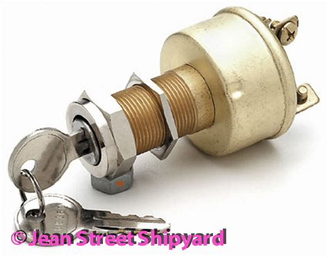 Marine Boat Brass Ignition Starter Switch 3 Pos Off On