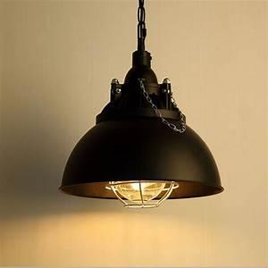 Vintage industrial pendant light loft retro metal edison