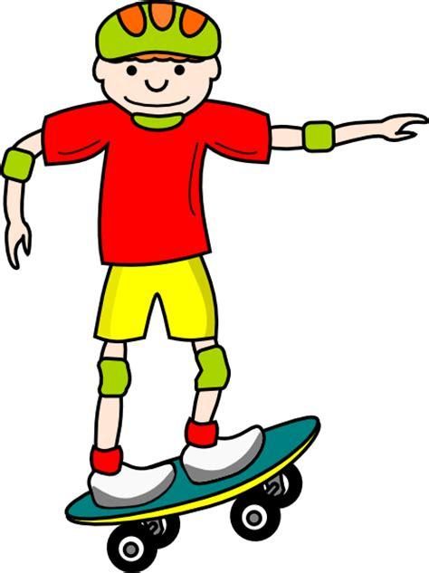 Skating Clipart Skate Board Boy Clip At Clker Vector Clip