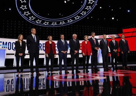 follow tonights democrat presidential debate  news