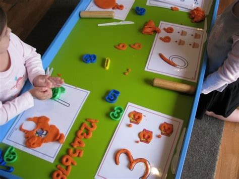 number play dough learning  kids