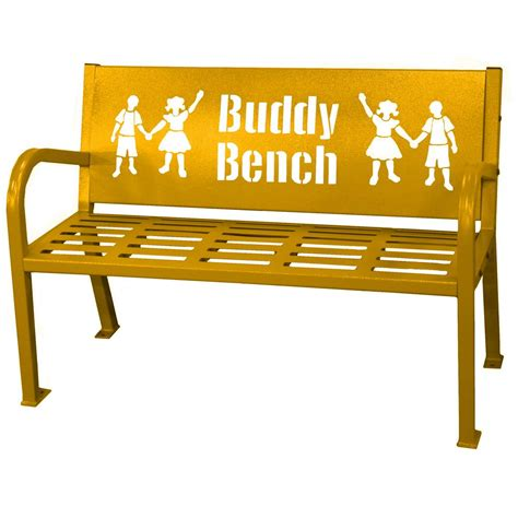 Buddy Bench by 4 Ft Yellow Buddy Bench 460 343 8003 The Home Depot