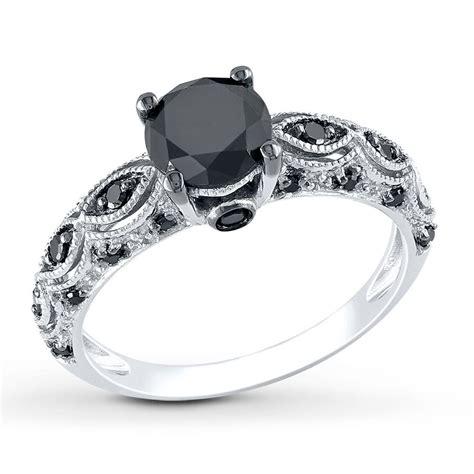 black wedding rings jared black ring 1