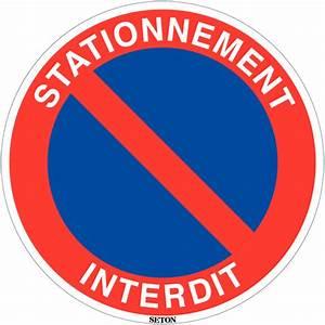 Panneau Interdit De Stationner : panneau de circulation en pvc stationnement interdit ~ Dailycaller-alerts.com Idées de Décoration