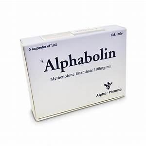 Alphabolin Methelone Enanthate 100mg  Ml 5 X 1 Amp - Alpha-pharma