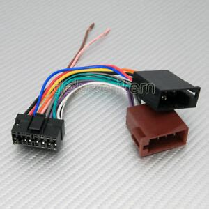 sony  pin iso car stereo radio audio wire wiring harness