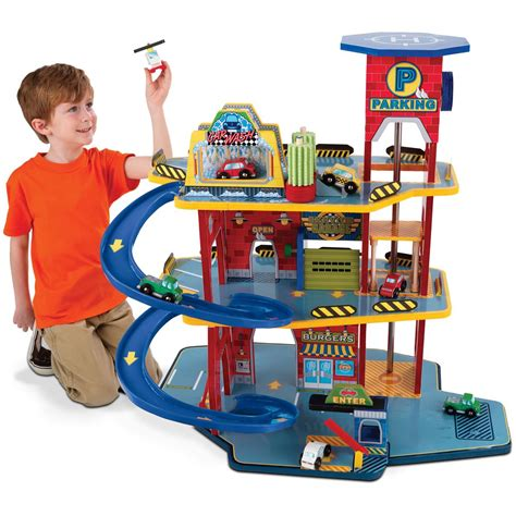 kidkraft deluxe garage set kidkraft 174 garage playset 170677 toys at sportsman s guide