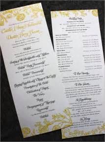 Wedding Program Design Ideas
