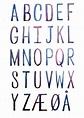 Danish Alphabet- ORIGINAL PAINTING | Danish language ...