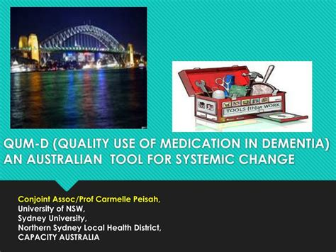 Ppt Qum D Quality Use Of Medication In Dementia An