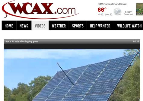 Wcax Profiles Solaflect Installation At East Haven