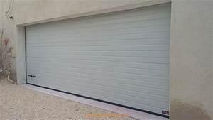 installation d39une porte de garage sectionnelle motorisee With installer une porte de garage