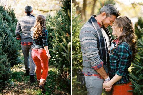 christmas tree farm engagement pictures austin wedding photographer film organic