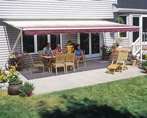 18x10 Manual Retractable Awning By Sunsetter Vista Model