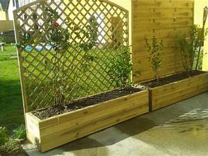 Jardinière Avec Treillage : bac jardiniere claustra arrondie clasf ~ Melissatoandfro.com Idées de Décoration