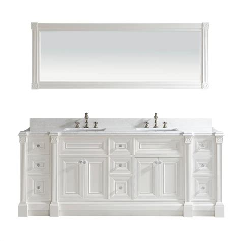 bathroom vanity mirror cabinet 84 inch white finish double sink bathroom vanity cabinet