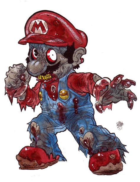 Zombie Art Zombie Mario From Donkey Kong Zombies In