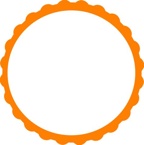Pink Scallop Circle Frame Clip Art at Clker com vector