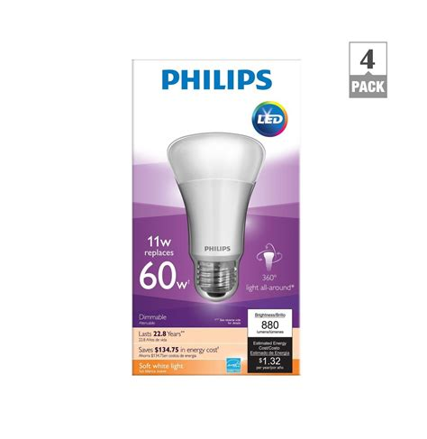 philips a19 dimmable led l philips 451922 11 watt a19 led household dimmable light