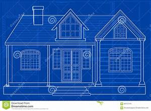 Blueprint Of Building Stock Vector  Illustration Of