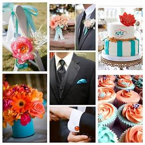 Coral and turquoise wedding inspiration coral and for Coral and turquoise wedding ideas