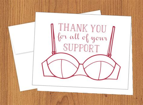 Thanks for Your Support Funny Thank You Cards A2