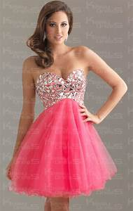 strapless tulle a line sweetheart sleeveless short prom With robe rose et noir