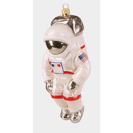 usa space astronaut polish glass christmas ornament