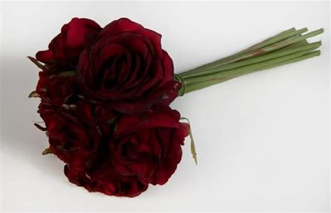 factory direct craft artificial silk deep red rose