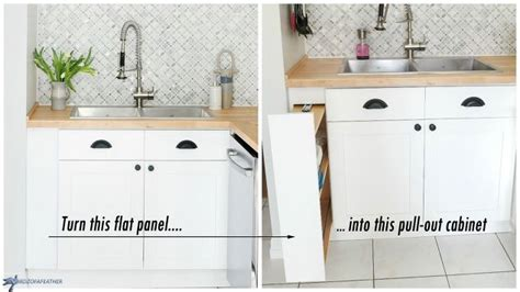 hidden kitchen storage turn a filler panel into a pull
