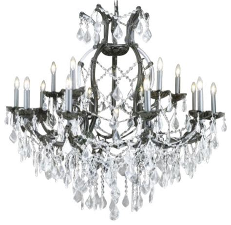 jet black chandelier with clear