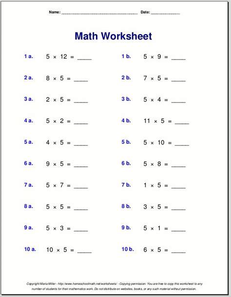 multiplication worksheets ideas   pinterest