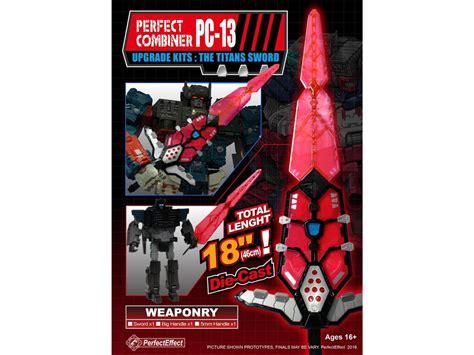 perfect effect pc13 titan sword fortress maximus