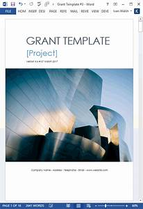 Grant Proposal Template – MS Word with Free Cover Letter & Budget Form