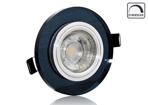 LED Einbauset LC Light schwarzes Kristall rund dimmbar