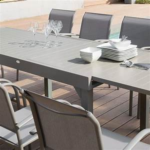 Table De Jardin Extensible Aluminium : table de jardin extensible aluminium piazza max 270 cm taupe table de jardin eminza ~ Melissatoandfro.com Idées de Décoration