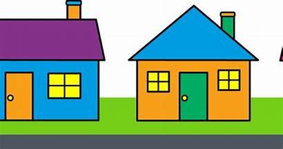 Clipart Row Clip Transparent Shapes Houses Neighbors
