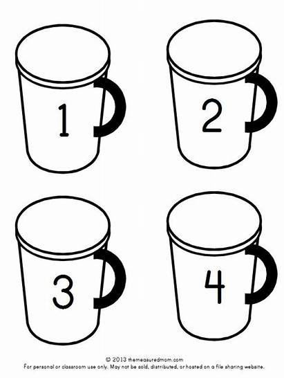 Math Chocolate Preschool Counting Printable Cups Mats