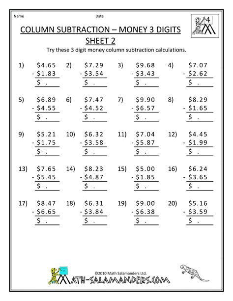 6 Best Images Of Printable Grade 4 Math Problem  Printable Math Addition Worksheets, 5th Grade