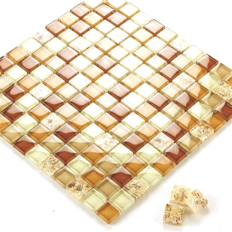 Bathroom Wall Tile Sheets by Glass Conch Tile Sheets Kitchen Backsplash Cheap Brown