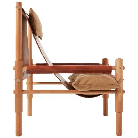 workstead sling chair cherry turned wooden legs