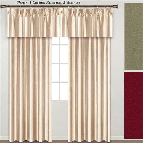 annas linens curtain rings annaleigh faux silk pinch pleat window treatment
