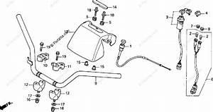 Honda Atv 2001 Oem Parts Diagram For Handlebar