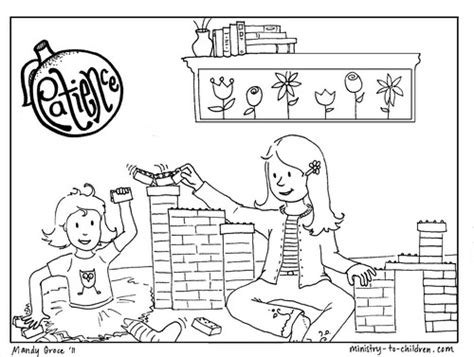 patience coloring page  kids  printable