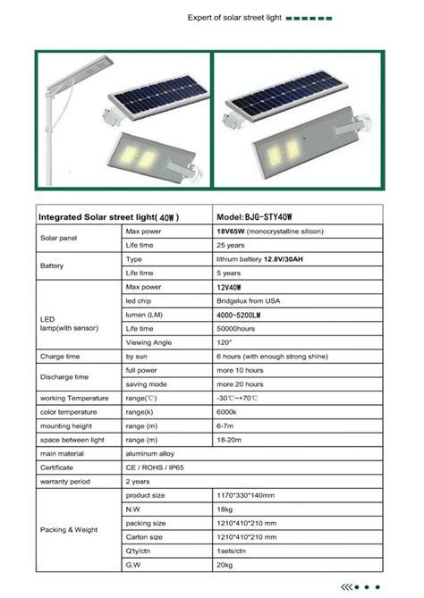 40 watt led ls specification of all in one