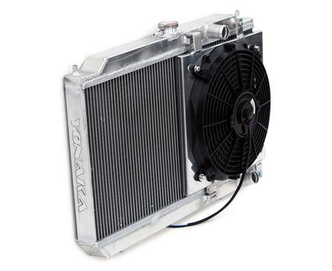 acura integra   aluminum radiator  fan shroud kit