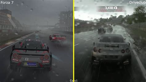 Kaos One One Graphic 7 forza 7 vs driveclub xbox one x vs ps4 pro effect